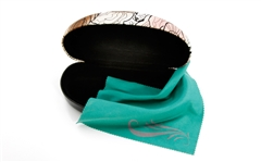 Fashion sunglasses case & fiber ultra cloth