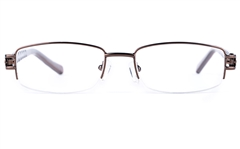 Poesia 6640 Stainless Steel/PC Womens Oval Semi-rimless Optical Glasses